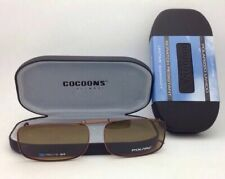 COCOONS Amber Polarized Sunglasses/Eyeglasses Over Rx Clip-on REC 15-54 Bronze