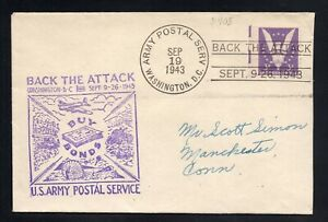 1943 WWII Patriotic Cover Back the Attack 3rd War Bond Drive