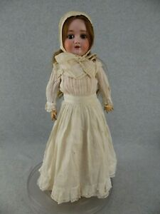 "21"" antique bisque head composition German Walkure Doll ""TLC"""