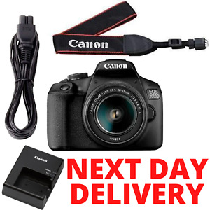 CANON EOS 2000D DSLR Camera with EF-S 18-55 mm f/3.5-5.6 III Lens New