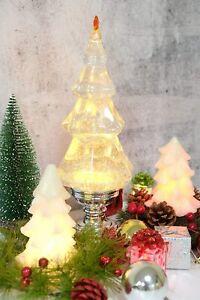Silver Music Christmas Tree Snow Globe Lantern Glitter Water Lantern Home Dec