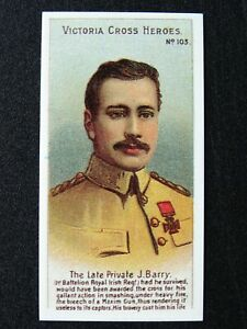 No.103 PRIVATE J. BARRY Victoria Cross Heroes Boer War REPRO by Taddy 1904