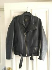 STAGG Vintage Leather Motorcycle Jacket (circa 1989) - size S/M