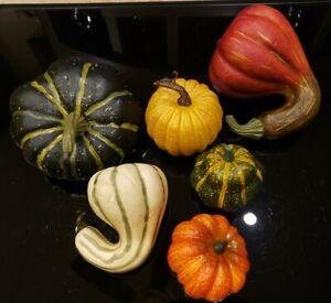 Thanksgiving - Artificial Pumpkins - Faux Fake Gourds and Fall Decor