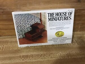 HOUSE OF MINIATURES Furniture Kit Hooded Cradle #40035