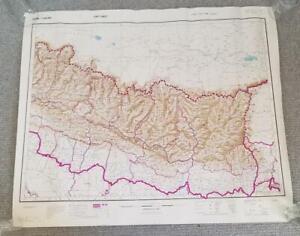 1953.Nepal 1:506 880.War Office. East Sheet Mt. Everest. RARE DETAILED MAP Nice