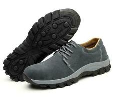 Mens Fashion Safety Shoes Leather Steel Toe Lightweight Casual Work Sneakers