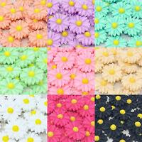 20x Daisy 22mm Shabby Chic Resin Flatbacks Craft Embellishments - 10 Colours