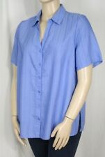 Viscose Career Plus Size Button Down Shirts for Women