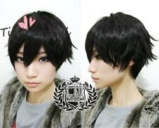 The Future Diary Yukiteru Amano Short Black Cosplay Wig costumes party Hair