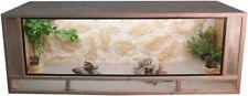 OSB - Holz Terrarium - Front aus massiven Fichtenhholzrahmen - 120x50x50cm