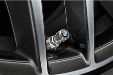 Genuine BMW Aluminium Protect TPMS Tyre Valve Caps BMW Logo 36122447401