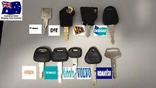 9 Excavator Plant Keys Mini Master Set of 9 FREE POSTAGE