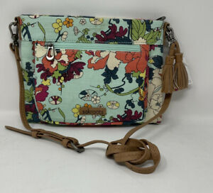 Sakroots Flower Power Wallet Crossbody Bag
