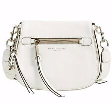 NWT $375 MARC Jacobs Leather Recruit Small Nomad Crossbody Bag Off White Silver