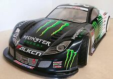 1/10 RC coche 190mm Honda NSX GT sobre carretera Drift Monster Energy Body Shell
