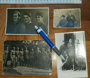 WWII 1945 YUGOSLAVIA ARMY PARTISAN LOT PHOTO PICTURE MILITARY MEDAL PPSh-41