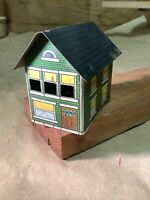 SCARCE Vintage 1914 WEST BROS Green House  TIN LITHO CANDY CONTAINER INVP2222
