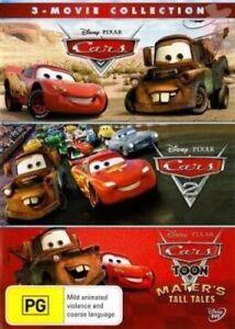 Cars / Cars 2 / Cars Toons (DVD, 2011, 3-Disc Set), NEW SEALED REGION 4 lot 405