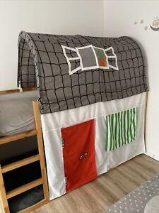 IKEA Baldachin Hausdach mit Tür und Fenster für Kinderbett Kura