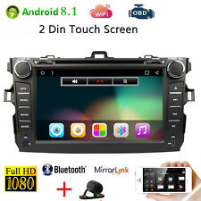 "Android 8.1 For Toyota COROLLA 2009-2010 8"" GPS Navigation Car DVD Player Radio"