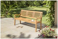 CASAYA Gartenbank Paolo 3-Sitzer Teakoptik, Eukalyptus Hartholz FSC Holzbank
