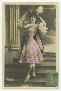 c 1904 French Theater MUSZ Music Hall Cabaret undivided back photo postcard