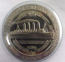 1988 Isle of Man 1 Crown Manx Bicentenary of Steam Navigation Mauretania