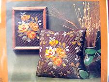 Rose Garden Gold Needlepoint Kit Make Picture or Pillow Creative Circle
