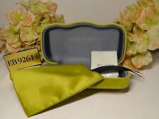 GUCCI Yellow Velvet Large Sunglasses Case + Pouch + Cleaning Cloth