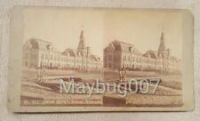 Rare antique Chas. Weitfle Stereoview Card Union Depot Denver Colorado railroad