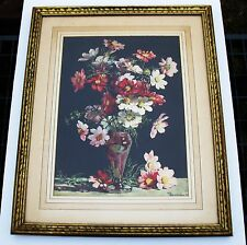 Amy C Reeve Fowkes Framed 1930s Watercolour Reproduction Art Print, Flowers