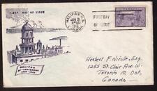 Canada FDC 1949 sc#283 Founding of Halifax, coloured Jacobi cachet