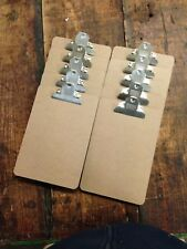 10 x Quality Wooden A5 Clipboard - Hardboard With Extra Strong Chrome Clip