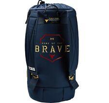 UA X Under Armour Project Rock Dwayne Johnson 60 Black Duffle Gym Bag Backpack