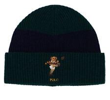 Polo RALPH LAUREN Beanie Men's Polo Rugby Bear Cuff Hat Cap Green Navy Stripe