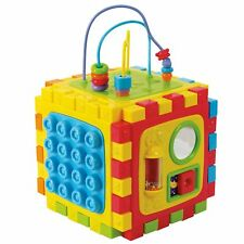 PLAYGO TODDLER ACTIVITY CUBE PLAY CENTER CONNECTABLE TOY LEARNING TOOLS PLAYMAT