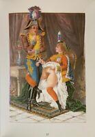 Victorian Era Erotik Akt Nude Penis Vagina Sex Lithography Grafik England 1880