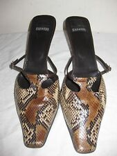Casadei Snakeskin Mules Shoes Size 10.5 B