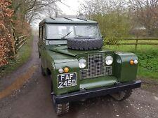 1966 Land Rover Series 2 SWB 88 2.25L Petrol Tax and MOT Exempt Part Restored