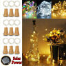 5PCS 2M 20LED Solar Cork Wine Bottle Stopper Copper Lamp Wire String Fairy Light