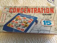 VTG 1970 Concentration MB Milton Bradley #4950 15th Edition Puzzle Board Game