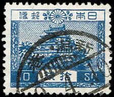 Scott # 196 - 1926 - ' Nagoya Castle '; Granite Paper