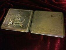 "German WW2, Kriegsmarine ""Zerberus"" Etching Cigarettes Case"