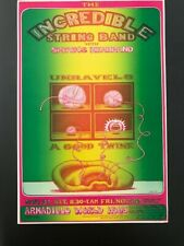 1970 ARMADILLO WORLD HEADQUARTERS INCREDIBLE STRING BAND TEXAS POSTER SHIVAS HB