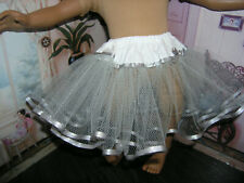 "Gray Net Slip Petticoat Crinoline Gray Ribbon 23"" Doll clothes fits My Twinn"