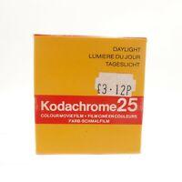 Kodachrome 25 Double 8mm Film - Unused but Expired 10/80 #OT-2032