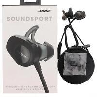 Bose SoundSport Wireless Headphones Neckband Bluetooth Black For Apple Used👍
