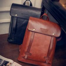 Men Women Leather Black Backpack Satchel Rucksack Shoulder Fashion School Bag UK