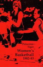 1982-83 PRINCETON UNIVERSITY WOMEN'S BASKETBALL POCKET SCHEDULE